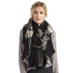 wool plaid scarf - Sole Society - Accessories