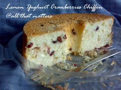 Lemon Yoghurt Cranberries Chiffon
