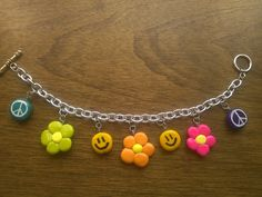 Polymer clay charm bracelet