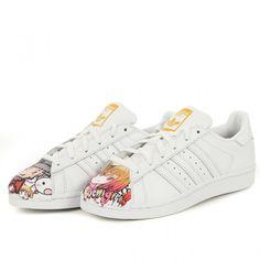 adidas Originals Superstar White Mr. Painted Pharrell Williams Mens Shoes