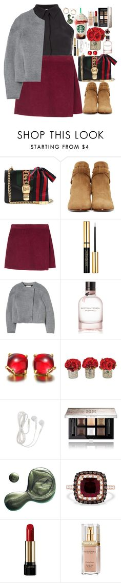 """""""❤"""" by polinachaban ❤ liked on Polyvore featuring Gucci, Yves Saint Laurent, Rebecca Taylor, Bottega Veneta, The French Bee, Givenchy, Illamasqua, Effy Jewelry, Lancôme and Elizabeth Arden"""