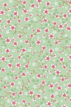 PiP Cherry Blossom Groen behang