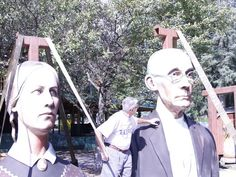 Moving American Gothic from Iowa State Fair