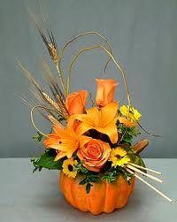 pumpkin wedding centerpiece