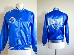 90s Burlington Eagles Varsity Bomber Jacket, Royal Blue Womens Small Burlington Kentucky by JoyDestroyVintage on Etsy