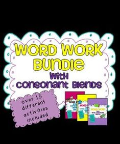 Word Work Bundle!  Over 15 different word work activities using blends and short vowel words $