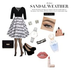 """Sin título #8"" by aniita0616 on Polyvore featuring moda, Boohoo, CLUSE, Kenneth Jay Lane, Marc Jacobs, Lime Crime, Lipstick Queen y Avenue"