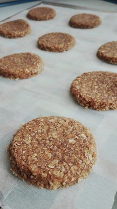 Galletas de Avena y Coco Sweet Recipes, Real Food Recipes, Cookie Recipes, Vegan Recipes, Dessert Recipes, Super Cookies, Healthy Sweets, Kefir, Sin Gluten