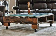 muebles de palet de madera mesa práctica