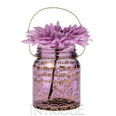 Small Amethyst Mehndi Mason Jar