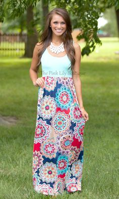 The Pink Lily Boutique - Come A Little Closer To Me Maxi, $39.00 (http://thepinklilyboutique.com/come-a-little-closer-to-me-maxi/)