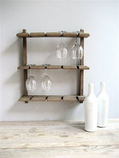 Vintage Wine Glass Rack by lovintagefinds on Etsy, $42.00