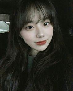 Ulzzang Korean Girl, Ulzzang Couple, Asian Woman, Asian Girl, Cute Korean Fashion, Cute Bangs, Aesthetic Girl, Korean Model, Kawaii