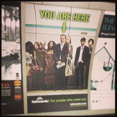 "@Rachael Sordillo's photo: ""Quite like this ad on the #underground #kathmandu #quit #adventure"""