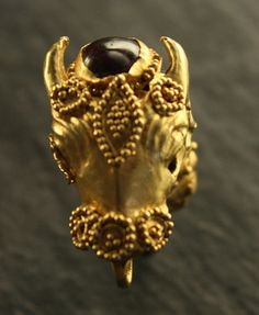 Gold Ring with a Head of Animal, Cyprus, ca. 400 B.C.