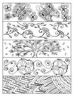 Great idea for library centers. Loads of bookmarks to color that students will… Colouring Pages, Coloring Sheets, Coloring Books, Coloring Stuff, Free Adult Coloring, Bookmark Template, To Color, Color Print, Tangle Patterns