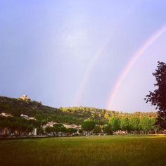 Wonderfull double rainbow #photoofday #visit #travel #provence #france #myfroggy