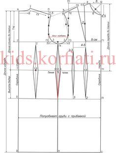 Базовая выкройка платья для девочки-подростка