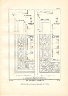 Doric Cornices Ceiling Architectural Drawing Vignola by carambas, $14.00