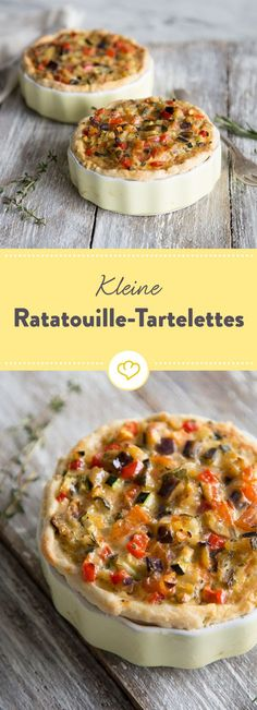 Sommergemüse und buttriger Mürbeteig in knusprigen Happen verbacken und schon zeigt sich Ratatouille von seiner tartetastischen Seite.