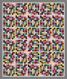 postage stamp quilt.