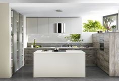 Discover the Home Design by SCHMIDT! Design your kitchen, wardrobe, cupboard or bathroom unit with the specialist in bespoke furniture. Bright Kitchens, Elegant Kitchens, Beautiful Kitchens, Modern Kitchens, Custom Kitchens, Bespoke Kitchens, Home Kitchens, Open Plan Kitchen, New Kitchen