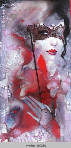 Ira Tsantekidou- Paintings since 2008 - Winter, mask, masquerade