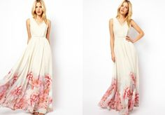 how to wear a flowy maxi dress | Found on elisemcdowell.com