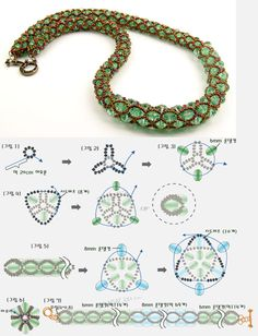 Korean schema - Easy netting with beads ~ Seed Bead Tutorials