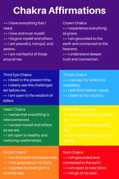 Chakra affirmations are a simple way to bring positive results into your life. They have worked for centuries to help balance chakras, create successes and to heal emotional scars. #HealthAndFintnes
