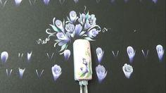 Học vẽ cọ bản Bài 8: Vẽ nụ hoa hồng | Vẽ móng tay - Nail Phương Lê