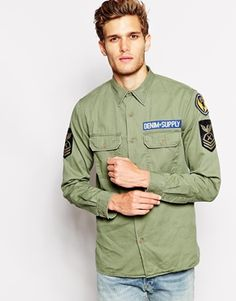 Denim & Supply Long Sleeve Army Shirt