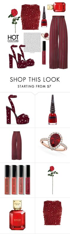 """""""smell the roses"""" by aluin ❤ liked on Polyvore featuring Giuseppe Zanotti, Manic Panic NYC, Allurez, Bobbi Brown Cosmetics, Nearly Natural, Michael Kors and Lace & Beads"""