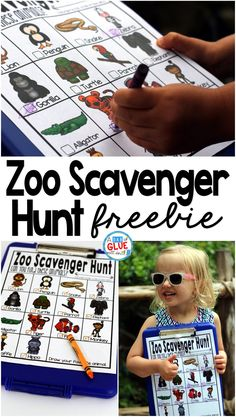 Zoo Scavenger Hunt FREEBIE is the perfect addition to your class' field trip or a trip to the zoo with your kids. This is a perfect way to add some sort of structure to the field trip and encourage some great discussions about the animals that they are se Animal Activities, Kids Learning Activities, Summer Activities, Preschool Activities, Daily Activities, Outdoor Activities, Baby Activites, Teaching Ideas, Animal Themes