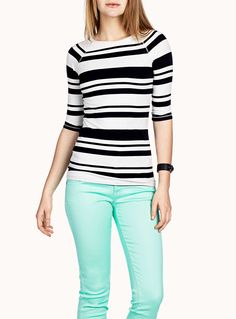 Striped boat-neck T-shirt   Simons