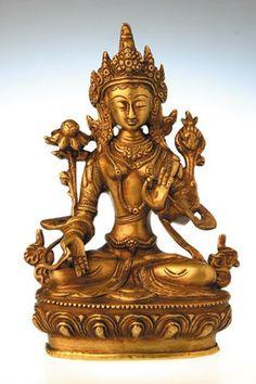 Weiße Tara 20 cm Messing Feng Shui 17 kg Skulptur Symbolfigur - Skulptur - Ideen von Skulptur Feng Shui, Bronze, Messing, Gold, Collection, Buddha, Buddhism, Kunst, Statues