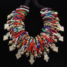 A wonderful necklace that has been put together by | Carl Dreibelbis, who is an avid collector of old and antique beads.