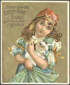 Detroit Soap Co's Queen Anne soap. The best family soap in the world - Victorian trade card, ca. 1895