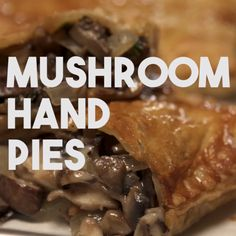 - Mushroom Hand Pie -Eating one of these individual pies is quite different from your basic fork-and-plate experience. A bite, and you will be in love. Pastry Recipes, Pie Recipes, Veggie Recipes, Cooking Recipes, Curry Recipes, Hand Pies, Individual Pies, Good Food, Yummy Food