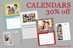 It's not too late to get your one of a kind calendar for 2016! Photo calendars are on sale, 30% off, until January 31. Print orders of $50 or more still get free shipping across Canada! Photo Calendar, You Got This, January, Canada, How To Get, Free Shipping, Frame, Picture Frame, Frames