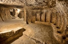 Massive 5,000-year-old underground city uncovered in Cappadocia in Turkey, in 2014,  which through the ages has been governed by the Hittites, Persians, Alexander the Great, Rome, The Byzantine Empire, Ottoman Empire, and Turkey.