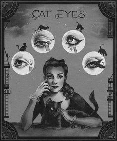 Vintage cat eye tutorial. Found via makeupaddiction subreddit.