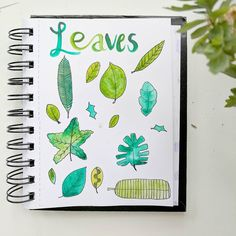 All the leaves. I like drawing leaves. Also I've filled up this sketchbook! That never happens...