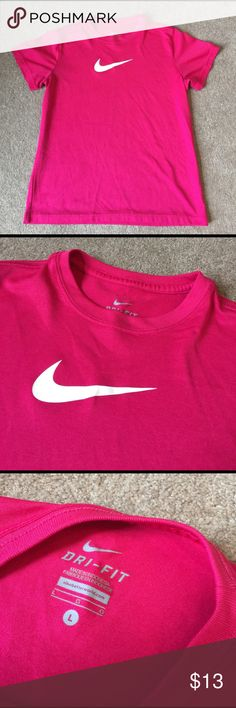 Girls hot pink Nike tee 100% polyester. A K Nike Shirts & Tops Tees - Short Sleeve