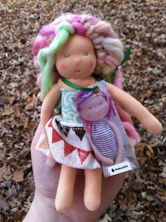 Mini Waldorf Doll by TheGooseBearyShop on Etsy, $20.00