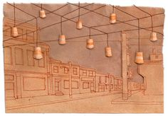 Miki Sato, Art Projects, Wall Lights, Paper, Illustrations, Drawings, Appliques, Wall Lighting, Art Designs