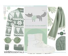 """""""Mint In Winter."""" by s-elle ❤ liked on Polyvore featuring Burberry, Merona, Shiseido, Bloomingville, Moncler, Krochet Kids, 3.1 Phillip Lim, Skagen, Lonna & Lilly and winterstaples"""