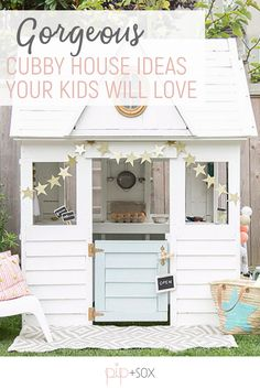 With spring on the horizon it's time to get your little one outside and having fun. A beautiful cubby is perfect for inspiring outdoor play and we've got some incredible ideas for your child's mini home this week on the Design Report.