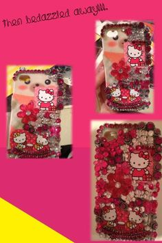 DIY Bedazzled iPhone Case #DIY #everythingthatscute makes me think of something I can do for my baby sister since she loves hello kitty