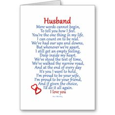 happy anniversary cards for husband | Husband Love Card